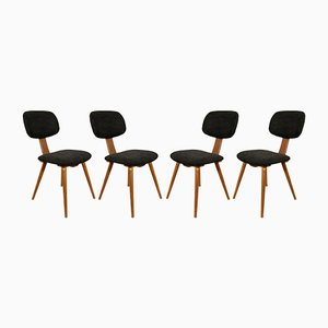 Mid-Century Polish 5827 Dining Chairs from Fameg Radomsko, 1970s, Set of 4