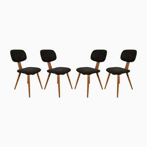 Mid-Century Polish 5827 Dining Chairs from Fameg Radomsko, 1970s, Set of 4