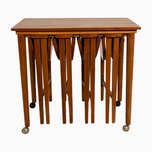 Mid-Century Danish Teak Nesting Tables by Poul Hundevad for Novy Domov, 1960s