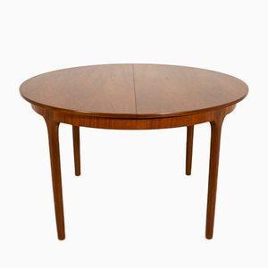 Runder ausziehbarer Esstisch von McIntosh, 1960er