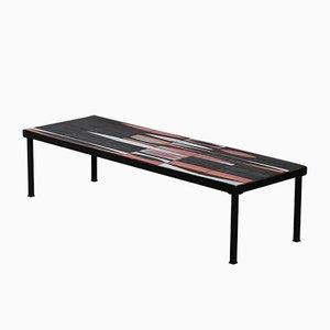 French Navette Coffee Table by by Roger Capron, 1950s