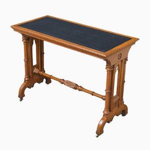 Viktorianischer gotischer Tisch aus Eichenholz