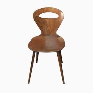 Mid-Century Stuhl aus gebogener Buche von Baumann, 1950er