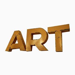 Juego de letras Art francés vintage, años 50