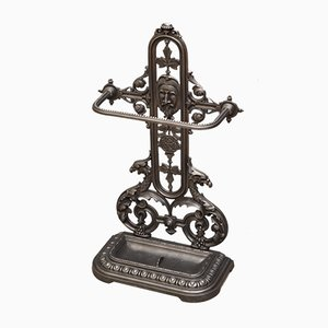 Paragüero victoriano de hierro fundido