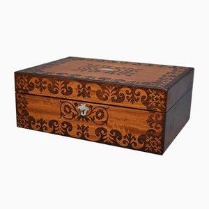Antiker viktorianischer Schmuckkasten aus Palisander