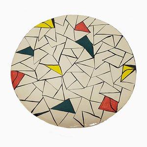 Plato vintage de cerámica de MN, años 80