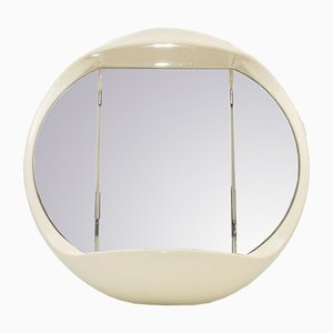Beige Illuminated Wall Mirror, 1970s
