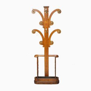 Antike viktorianische Garderobe aus Eichenholz
