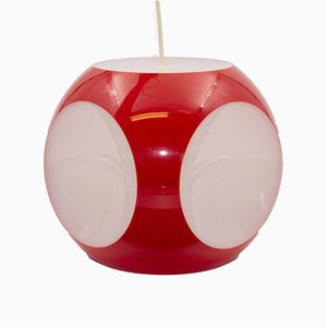 Red Cube Ceiling Lamp by Luigi Colani, 1970s