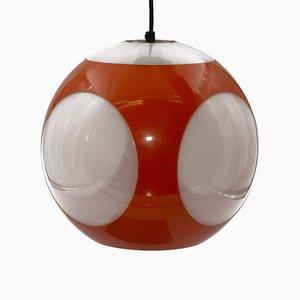 Lámpara esférica naranja de Luigi Colani, años 70