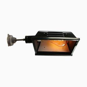 Vintage Theaterlampe aus schwarzem Metall & Gusseisen, 1950er