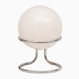 Vintage Space Age Chrome Globe Table Lamp