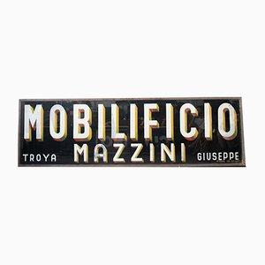Insegna di Mobilificio Mazzini, Italia, anni '40