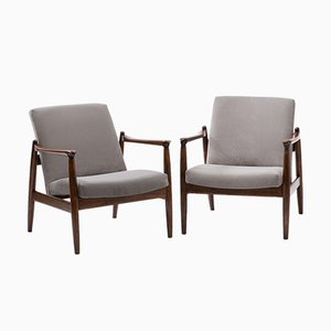Model GFM 64 Armchairs by Edmund Homa for Gościnno Furniture Factory, 1960s, Set of 2