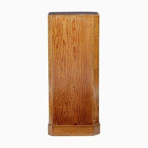 Octagonal Antique Pine Pedestal
