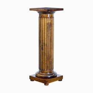 Piedistallo a colonna in betulla, fine XIX secolo