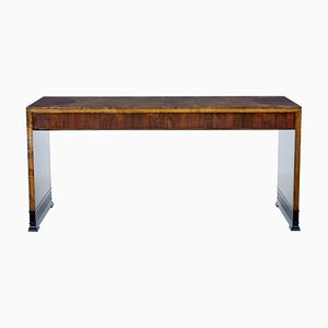 Art Deco Inlaid Mahogany & Birch Coffee Table, 1930s