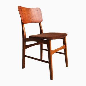 Danish Modern Teak Chairs on Oak Legs by Ib Kofod Larsen, 1960s, Set of 6