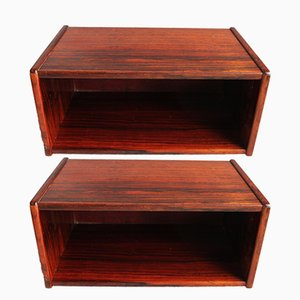 Scandinivian Modern Rosewood Nightstands, 1960s, Set of 2