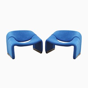 F598 Groovy Chairs by Pierre Paulin for Artifort, 1970s, Set of 2