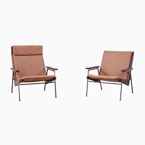 Lotus Sessel mit Gestell aus Teak von Rob Parry für De Ster Gelderland, 1960er, 2er Set