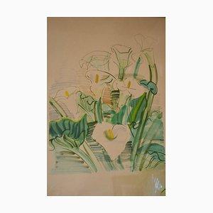 Lithographie Les Arums par Raoul Dufy, 1950s
