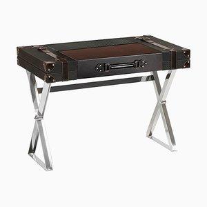 Maleta-escritorio de cuero con patas de acero de Jacobo Ventura para C. A. Spanish Handicraft