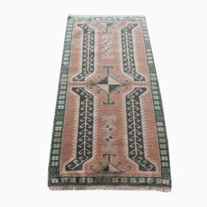 Kleine handgefertigte türkische Fußmatte, 1970er