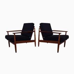 Danish Teak Armchairs, Set of 2, 1960s