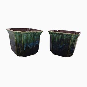 Cache-Pots en Céramique de Scheurich, Allemagne, 1970s, Set de 2