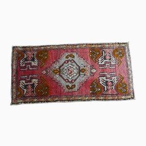 Kleiner türkischer handgeknüpfter Yastik Teppich, 1970er