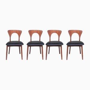 Chaises de Salon Peter par Niels Koefoed pour Koefoeds Hornslet, Danemark, 1950s, Set de 4