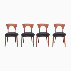 Danish Peter Dining Chairs by Niels Koefoed for Koefoeds Hornslet, 1950s, Set of 4