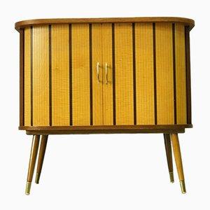 Mid-Century Cabinet with Roller Shutter Doors, 1960s, 1960s