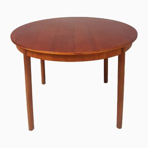 Circular Mid-Century Teak Extending Dining Table from McIntosh, 1970s,
