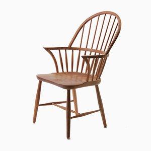 Sedia Windsor in legno di quercia di Frits Henningsen per Carl Hansen & Søn, anni '50, set di 6