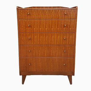 Mid-Century Walnut & Teak Chest of Drawers from Lebus, 1950s