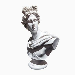 Marble Apollo Bust from Sculptured Arts Studio, 1980s