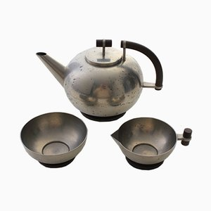 Vintage Pewter Coffee Set from Athena Ystad AB, 1936