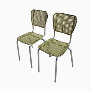 Vintage Cane Dining Chairs, 1970s, Set of 2