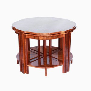 Art Deco Walnut Nesting Tables, 1930s