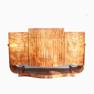 Art Deco Burr Walnut Veneer Sideboard by Harry and Lou Epstein, 1930s
