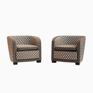 Art Deco French Club Chairs, 1930s, Set of 2