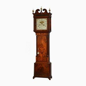 Horloge de Parterre George III Antique par J.A.S Butler of Bolton, 1780s
