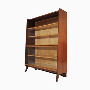 Vintage Bookcase with Glass Doors from Tatra, 1960s
