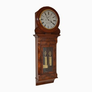 Antique Regency Wall Clock by K.D. Sykes of Manchester, 1820s