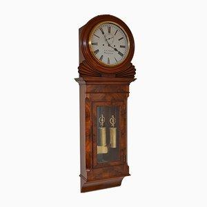 Reloj de pared Regency antiguo de K.D. Sykes of Manchester, década de 1820