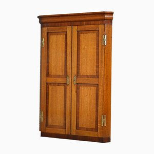 Antique Victorian Oak Corner Cupboard, 1860s