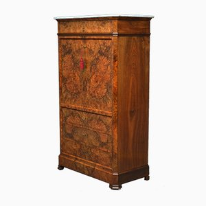 Antique Continental Burr Walnut Secretaire